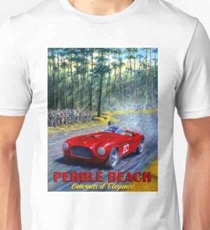 PEBBLE BEACH; Grand Prix Auto Print Unisex T-Shirt