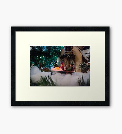 The Fire is so Delightful Framed Print