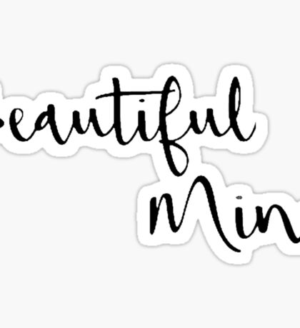 Beautiful Mind 4 Sticker