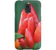 chili in vegetable garden Samsung Galaxy Case/Skin
