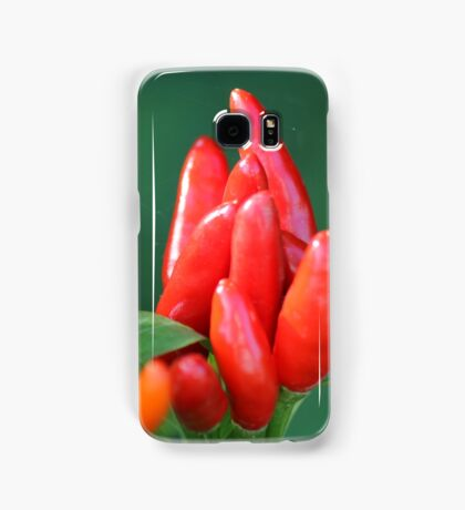 chili in vegetable garden Samsung Galaxy Case/Skin