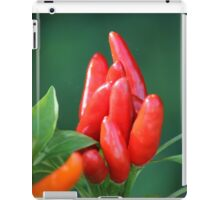 chili in vegetable garden iPad Case/Skin