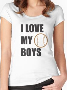 I LOVE MY BOYS Women's Fitted Scoop T-Shirt