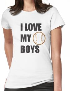 I LOVE MY BOYS Womens Fitted T-Shirt
