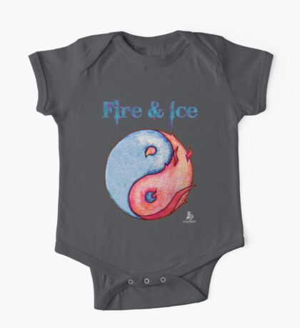 Fire & Ice (Yin Yang on Black) One Piece - Short Sleeve