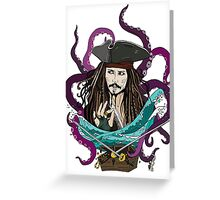 Jack Sparrow Greeting Card