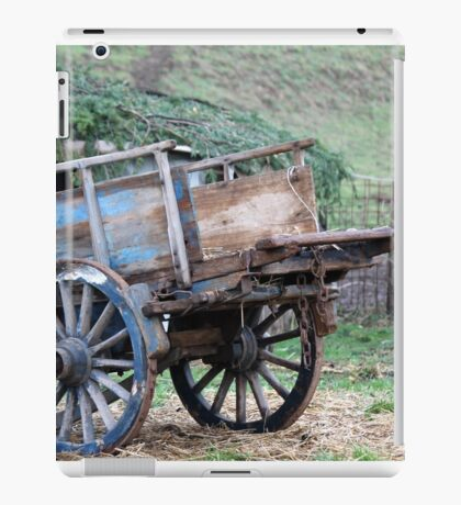 old wooden cart iPad Case/Skin