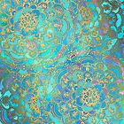 Sapphire & Jade Stained Glass Mandalas by micklyn