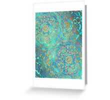 Sapphire & Jade Stained Glass Mandalas Greeting Card