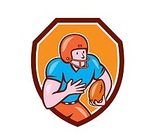 American Football Receiver Running Ball Shield by patrimonio