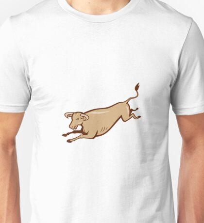 Bull Cow Jumping Cartoon Unisex T-Shirt