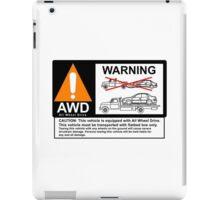 AWD Warning Towing Subaru iPad Case/Skin