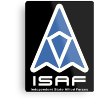 ISAF Logo Metal Print