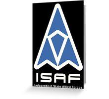 ISAF Logo Greeting Card