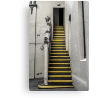 Yellow Striped Stairs Canvas Print