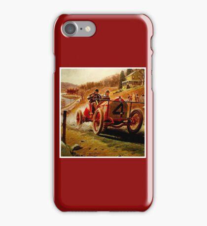 GRAND PRIX; Vintage Auto Racing Print iPhone Case/Skin