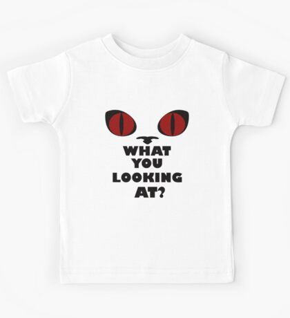 Red Cat Eyes - What You Looking At? Kids Tee