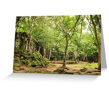 Beng Mealea Temple Greeting Card