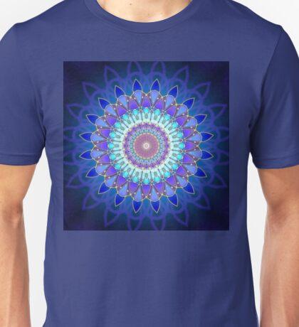Flower Mandala - blue cyan violet Unisex T-Shirt