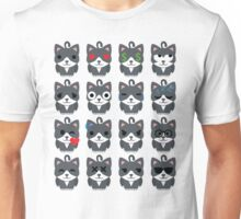 Lovely Cat Emoji Different Facial Expressions Unisex T-Shirt