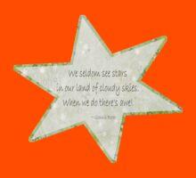 Star haiku on golden clouds Kids Clothes