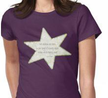 Star haiku on golden clouds Womens Fitted T-Shirt