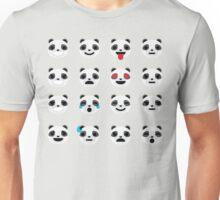 Emoji Panda Different Facial Expression Unisex T-Shirt