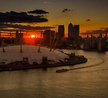 Sunset over London by Sue Martin
