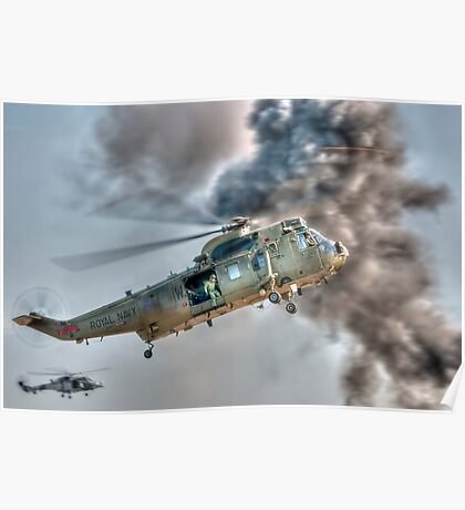 Royal Navy Sea King Helicopter Poster
