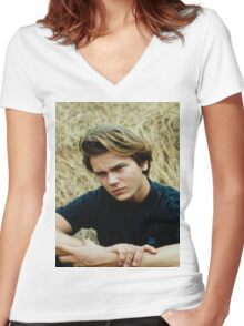 River Phoenix Women's Fitted V-Neck T-Shirt