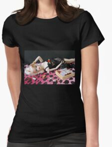 Bad Barbie Womens Fitted T-Shirt