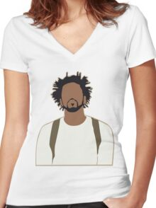 J. Cole Women's Fitted V-Neck T-Shirt
