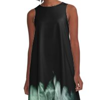 Natural Abstract 3 (Black and Subterranean variant) A-Line Dress