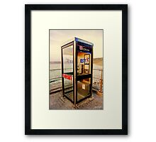 Room with a view , phone box at the seaside  Framed Print
