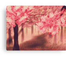 Blooming Sakura Trees 2 Canvas Print