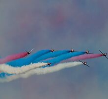 The Red Arrows Painting the Sky by © Steve H Clark Photography