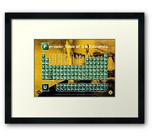 Periodic Table of the Elements Framed Print
