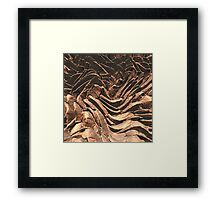 Macro Copper Abstract Framed Print