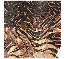 Macro Copper Abstract Poster