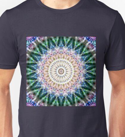 Flowers Star Mandala - green blue pink Unisex T-Shirt