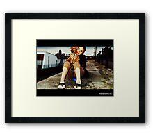 Debra Kurs and her puppy Lobito  Framed Print