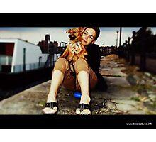 Debra Kurs and her puppy Lobito  Photographic Print