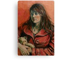 'Georgie: a study in red' 2011 Oil on canvas Canvas Print