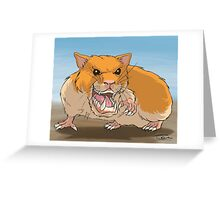 Werehamster Greeting Card