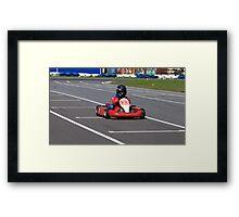 racer Go-kart front view Framed Print