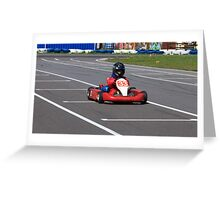 racer Go-kart front view Greeting Card