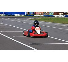 racer Go-kart front view Photographic Print