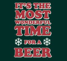 ITS THE MOST WONDERFUL TIME FOR A BEER, MERRY CHRISTMAS by awesomegift