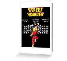 Street Invader Greeting Card