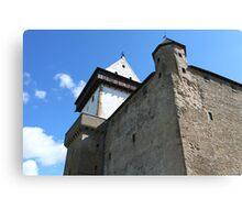 medieval castle against the sky Canvas Print